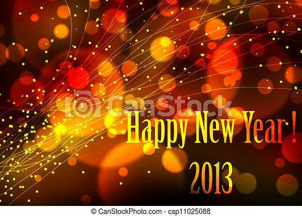 Happy new year 2013 card or background - csp11025088