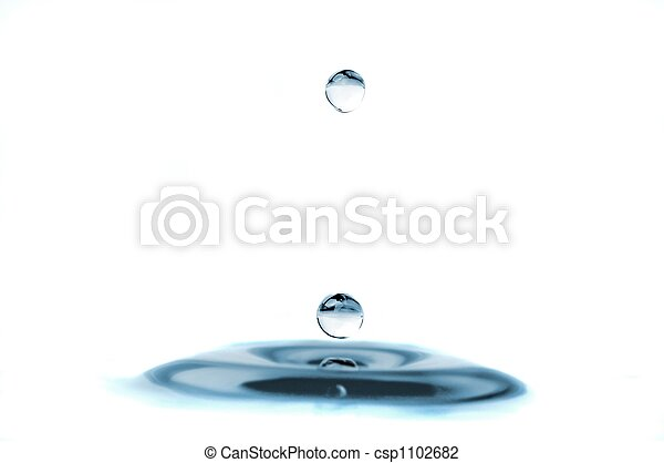 isolated water droplets - csp1102682