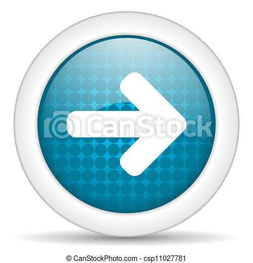 stock illustration von pfeil recht ikone csp11027781