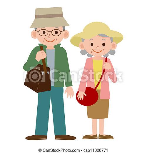 Elderly couple Illustrations and Clip Art. 1,694 Elderly couple ...