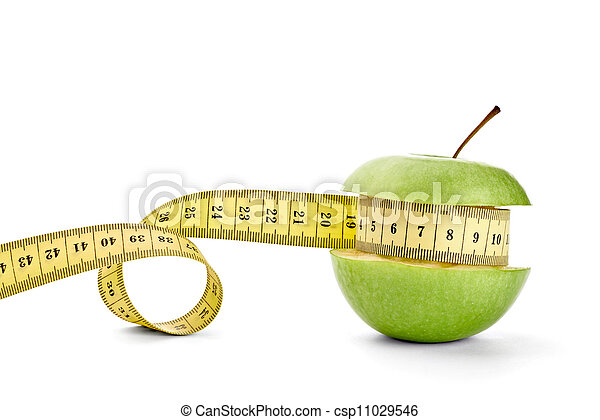 apple and tape diet healthy food fruit - csp11029546