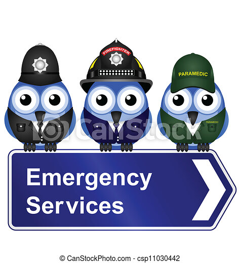Emergency services sign - csp11030442