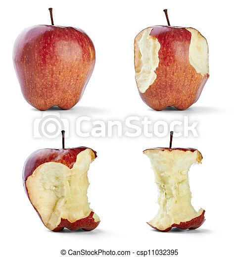 apple bite fruit healthy diet food - csp11032395