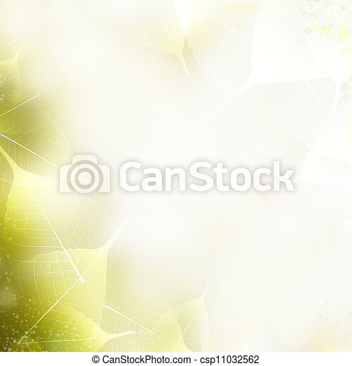 Background - beautiful nature border with leaves - csp11032562