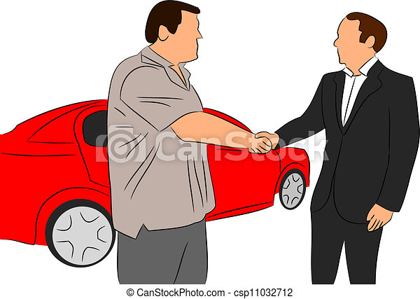 Vector Clip Art of Car Salesman vector csp11032712 - Search Clipart ...