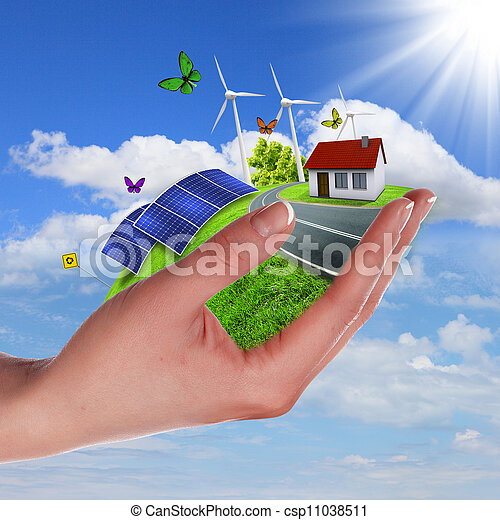 Ecology and safe energy - csp11038511