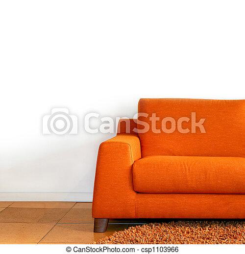 Orange sofa - csp1103966