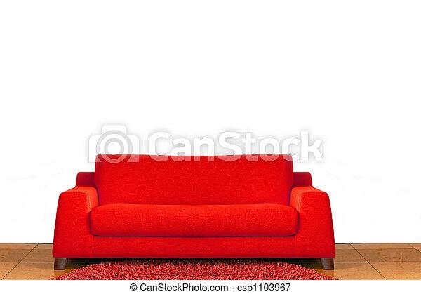 Red sofa - csp1103967