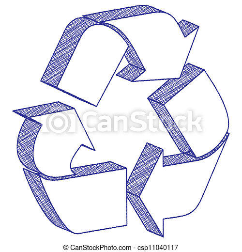 Cool Recycling Drawings 3d Drawing Recycling Symbol