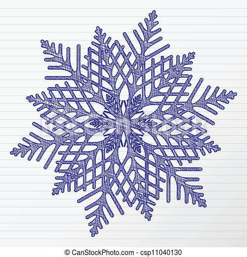 Vecteurs de dessin flocon de neige gratignure hiver - Dessins flocons de neige ...