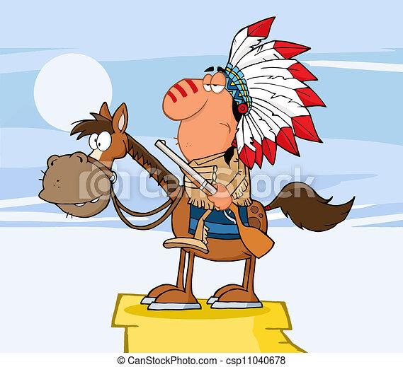 負責人, 馬, 印第安語, 槍