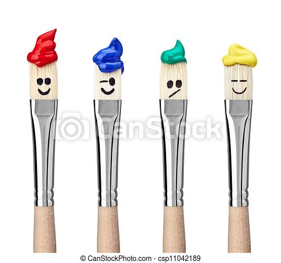 paint brush art and craft - csp11042189