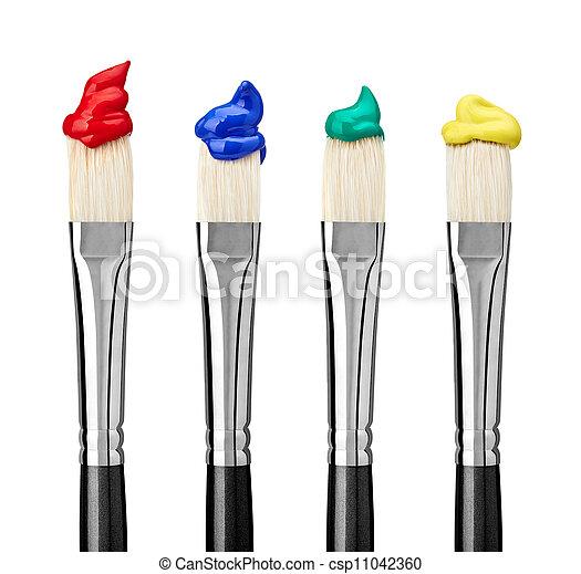 畫, 工藝, 藝術, 刷子 - csp11042360