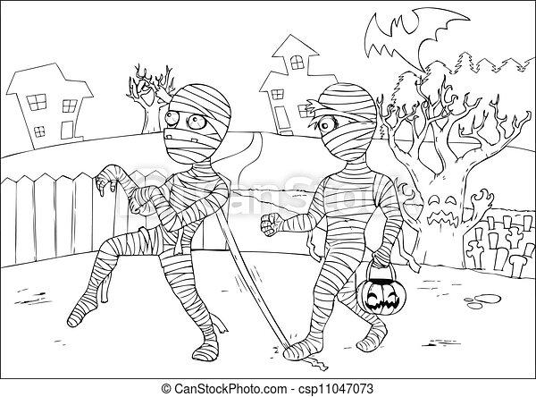 Kleurplaat Dummy De Mummy Archidev