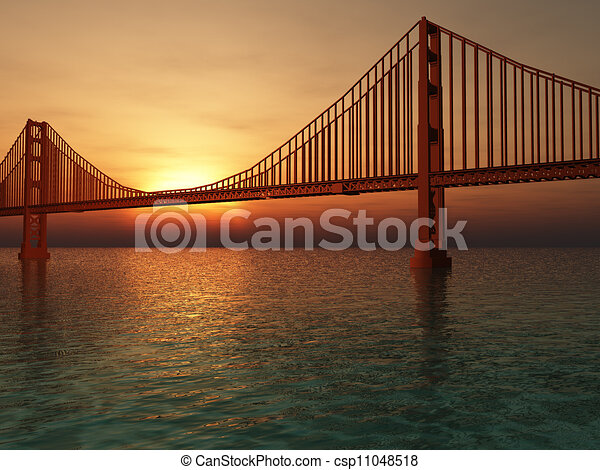 Golden Gate Bridge Illustration - csp11048518