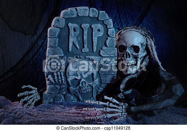 Photo cr ne monstre pierre tombale image images - Pierre tombale halloween ...