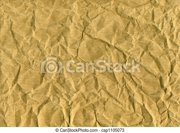 wrinkled brown paper for backgrounds, textures or layers - csp1105073