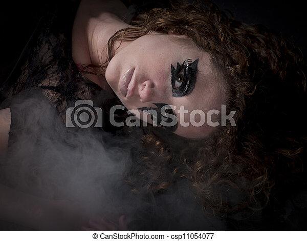 sexy gothic girl - csp11054077