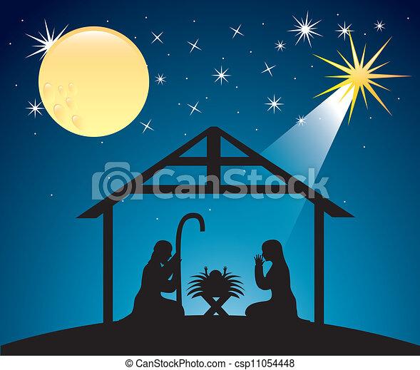Christmas nativity scene - csp11054448