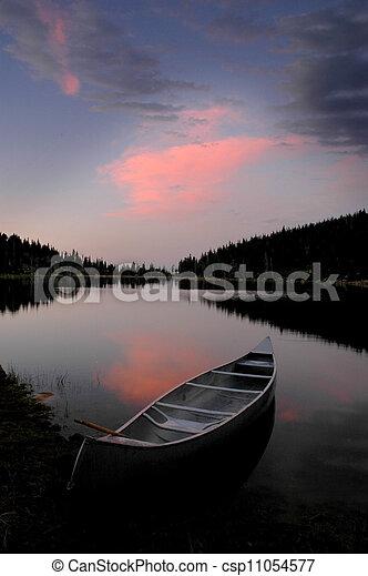 Sunset Glow at the Lake - csp11054577