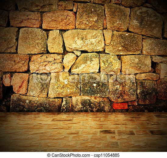 Stone wall background - csp11054885