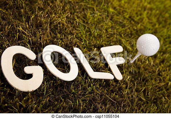 Golf ball on tee  - csp11055104