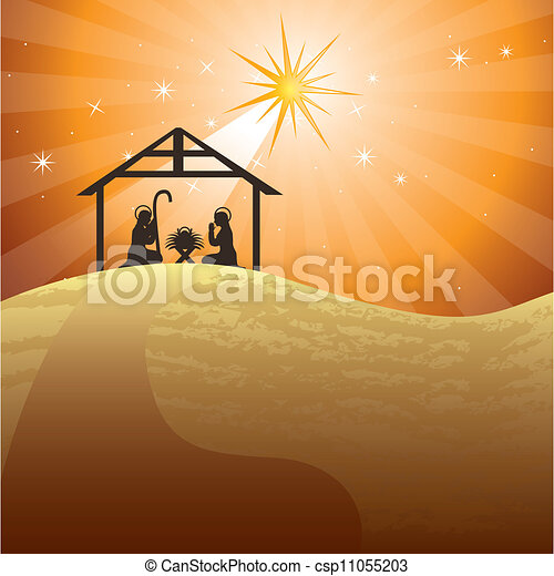 nativity scene - csp11055203