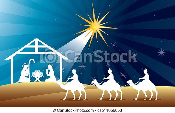 Nativity Scene Artwork Nativity Scene Stock