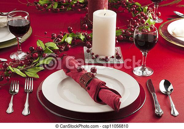 christmas dinner table - csp11056810