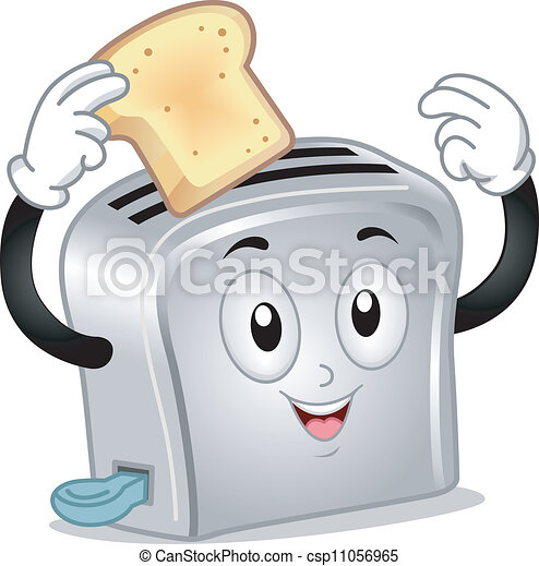 Bread Toaster Drawing Toaster Mascot Csp11056965