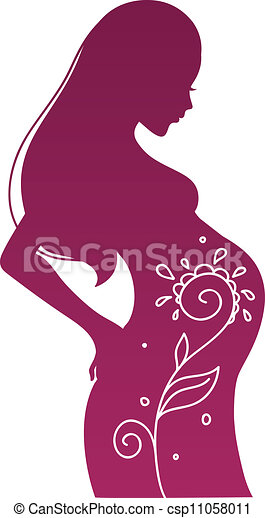 Vector Clip Art Of Pregnant Woman Vector Illustration Of