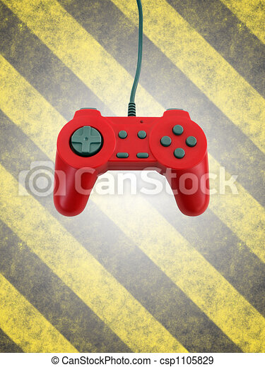 game controller w clipping path  - csp1105829