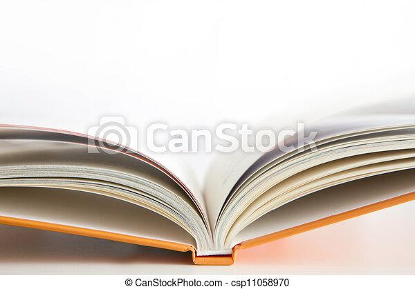 open book on white - csp11058970