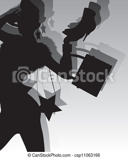 fashion silhouette - csp11063166
