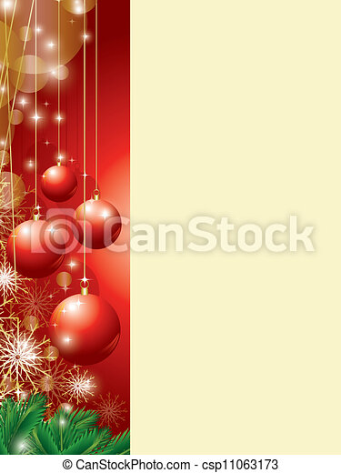 christmas background with copy space - csp11063173