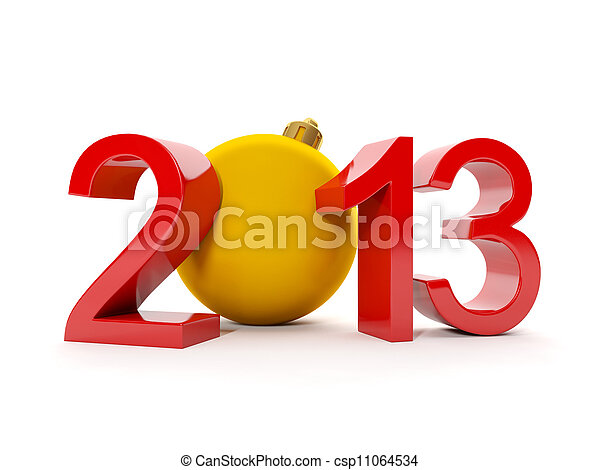 Stock foto 3d illustration kerstmis thema getal 2013 kerstmis