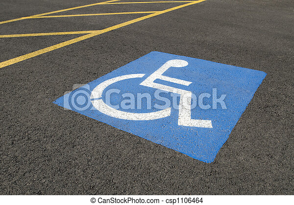 Handicapped Parking Symbol - csp1106464