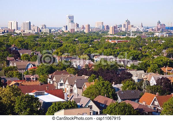 Milwaukee - city panorama - csp11067915