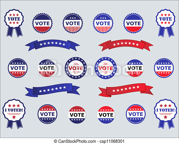 Voting Badges and Stickers - csp11068301