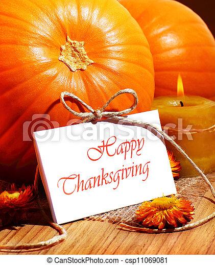 Thanksgiving holiday card - csp11069081