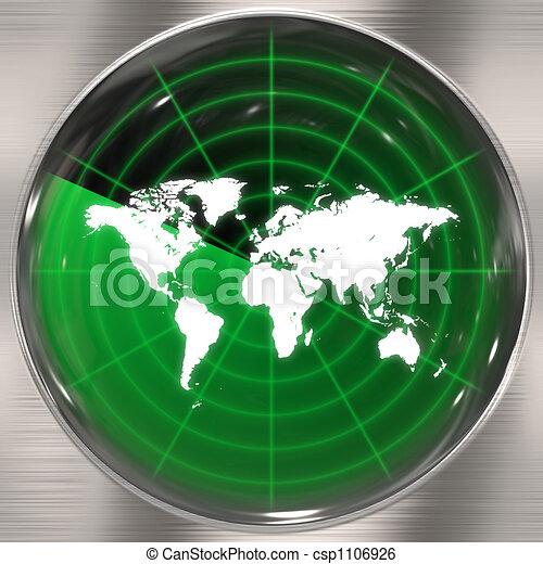 World Radar Screen - csp1106926