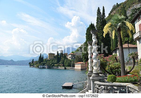 View to the lake Como from villa Monastero. Italy  - csp11072622