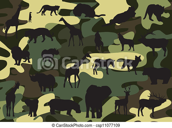 Vector Clip Art of Camouflage - Seamless pattern in the form of a ...