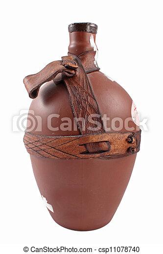Ancient greek vase isolated on white  - csp11078740