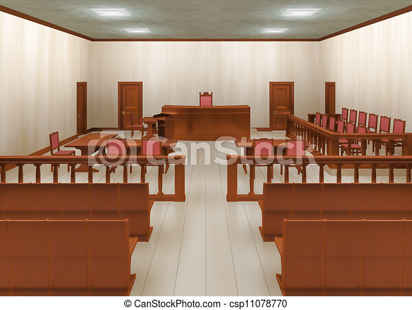 Stock Illustrations of courtroom csp11078770 - Search EPS ...