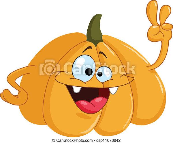 Vettore eps di cartone animato zucca cartoon zucca for Disegni di zucche