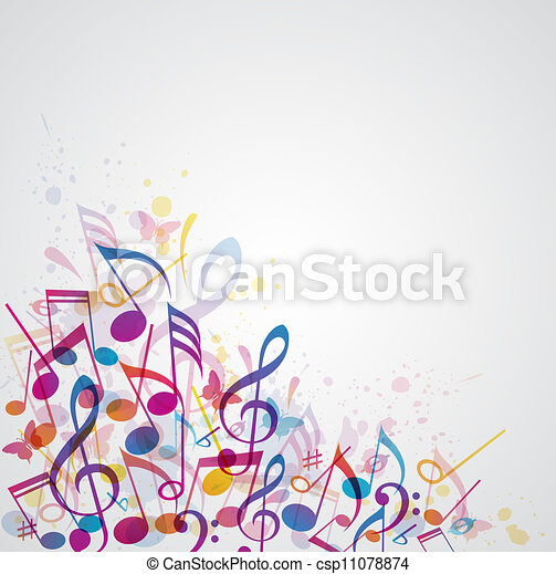 Music abstract background - csp11078874
