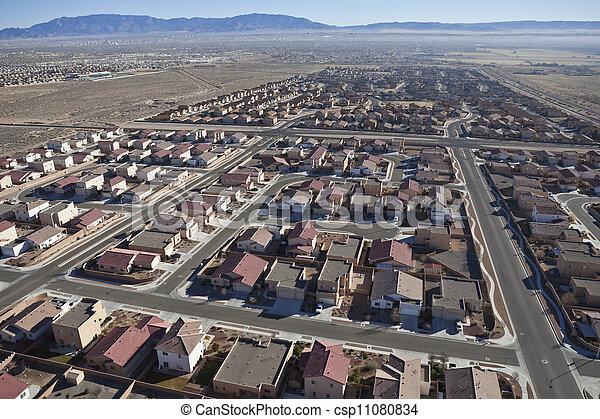 Desert Suburban Subdivision Aerial - csp11080834