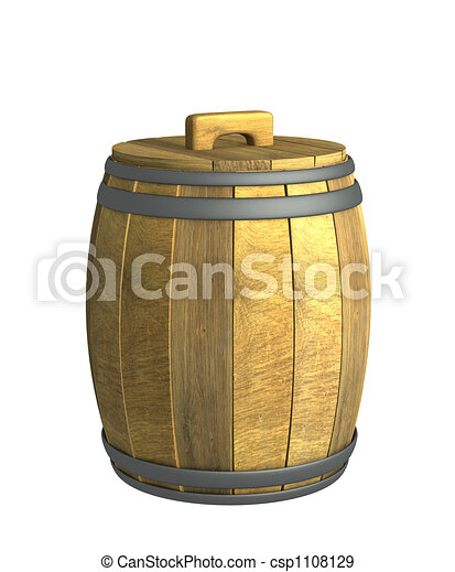 Old wooden wine a barrel - csp1108129