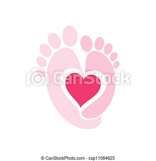 Baby Legs symbol. - csp11084623